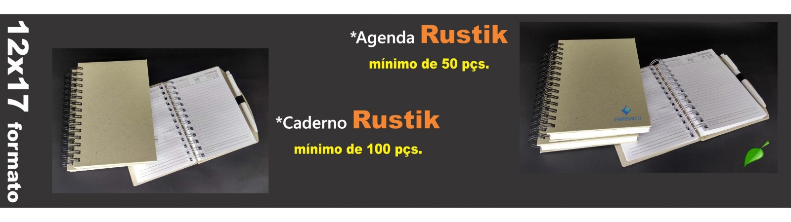 Agenda Caderno Rustik