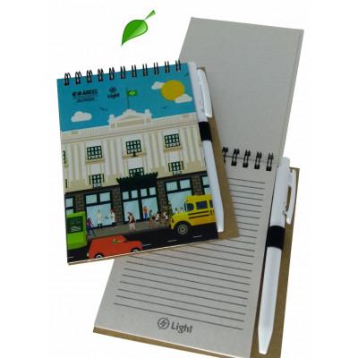 Bloco de anotações COLORS com caneta