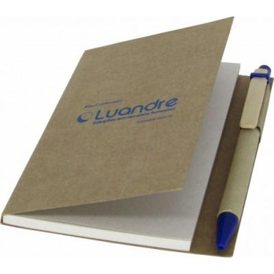 Caderneta de Anotações Eco Molesk com Caneta